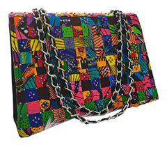Rhinestone Studded Omami Ankara Woven Handbag