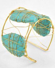 Turquoise Stone Cuff