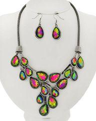 Volcano Glass Necklace Set
