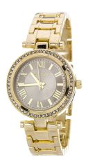 Gold and Ivory Crystal Bezel Fashion Watch