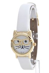 Cat Faced Skinny Strap Watch
