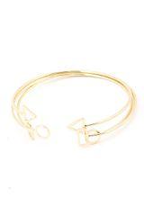Three Thin Pint Shape Cuff Bracelets