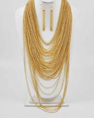 Multi Strand Chain Gold