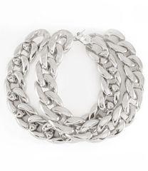 Silver Chain Hoop Earrings
