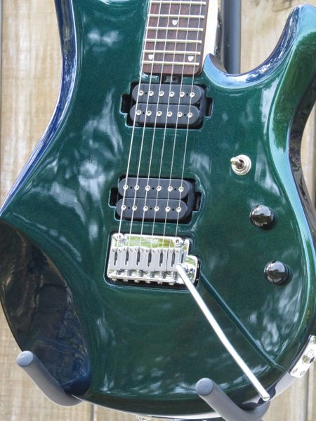SOLDMystic Green Sterling by Music Man JP60 John Petrucci 6 string electric guitar