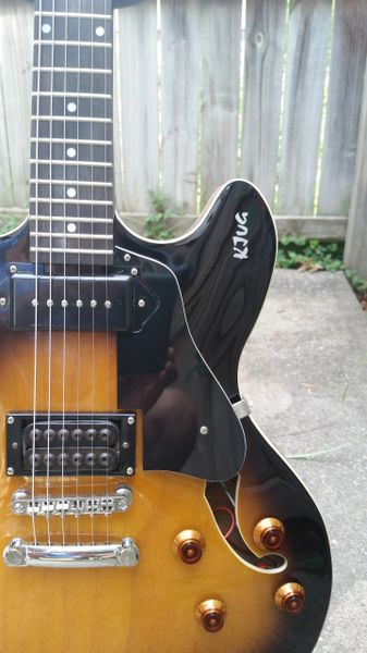 SOLD!! Semi hollow body banging a P90 and SD Invader w/Epiphone HSC!