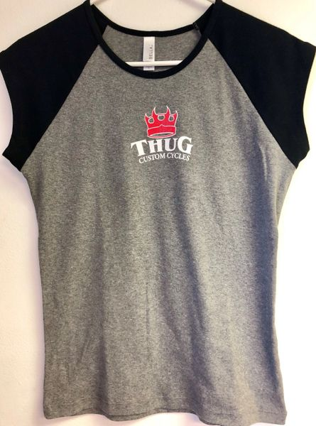 THUG Baseball Tee Grey