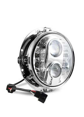 "7"" LED HEADLIGHT FOR BAGGERS OR SOFTAILS"