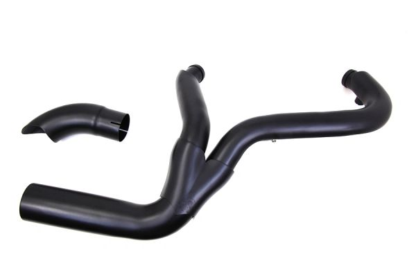 2 into 1 Exhaust Header Set Black