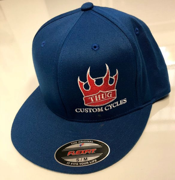 THUG Flex Fit Blue w/Red Crown