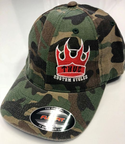 THUG Flex Fit Camouflage w/Red Crown