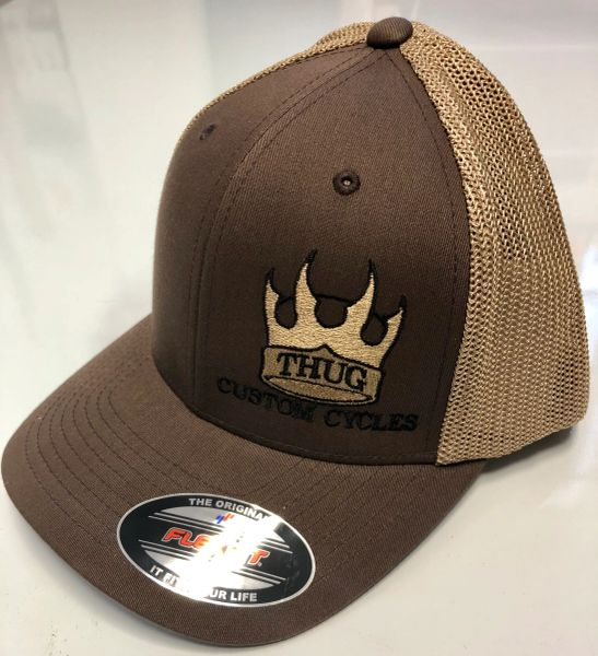 THUG Flex Fit Brown Trucker Hat