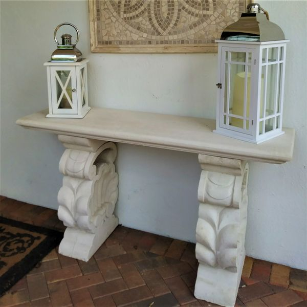 Shell Base Console Table Cast Stone International