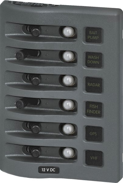 6 Position WaterProof Circuit Breaker Panel