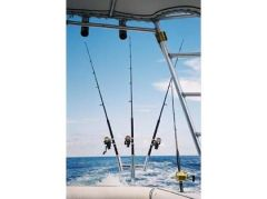 Triple Aluminum Kite Rod Holder (Brushed) 88156