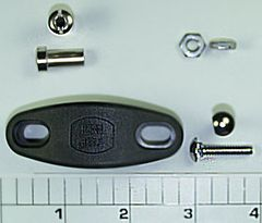 Rod Clamp Kit: Graphite Clamp with Studs and Nuts