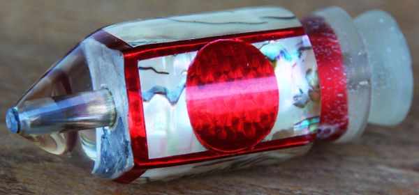"""Morris 7"""" Red/Mother of Pearl"""