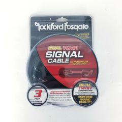 Rockford Fosgate RFIT-3 3' Premium Dual Twist RCA Cable