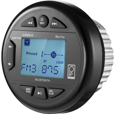 Poly Planar GSMR20 Marine Radio AM/FM/MP3, USB, Bluetooth