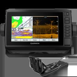 Garmin EchoMAP CHIRP 74cv UHD w/ Transom Mount Transducer and G3 Offshore Charts
