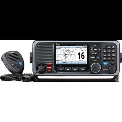 ICOM M605 VHF, Color LCD, GPS, Keypad, Hailer