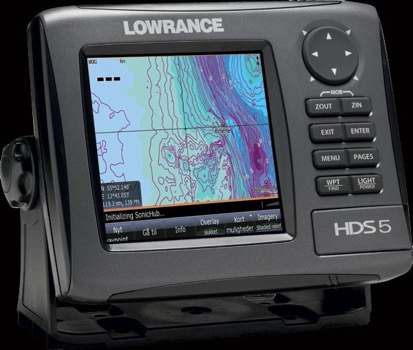 Lowrance HDS 5 Gen2 G.P.S./Chartplotter/FishFinder w/Transducer & Hawaii Charts