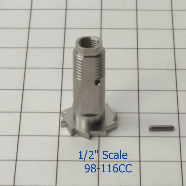 98-116SS Gear Sleeve with pin (Stainles Steel)