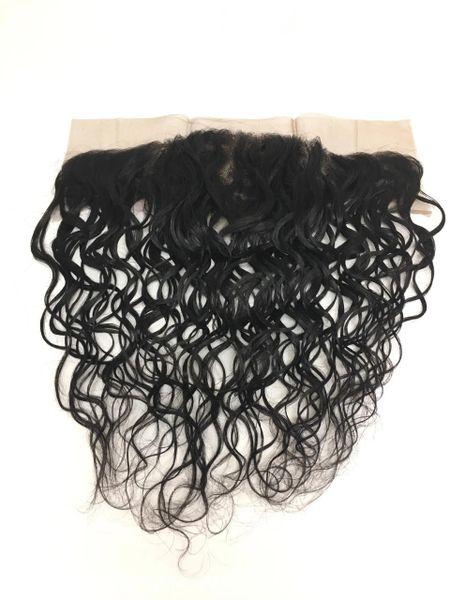 "Silk Full Lace Closure 13""x4"" 100% Virgin Human Hair 12"" Malaysian Wave"