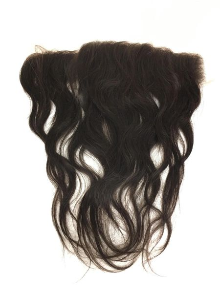 "Silk Full Lace Closure 13""x4"" 100% Virgin Human Hair 12"" Natural Straight"