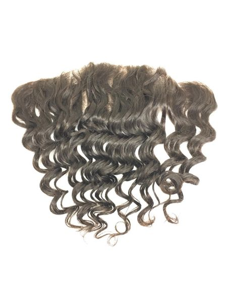 "Silk Full Lace Closure 13""x4"" 100% Virgin Human Hair 12"" Deep Curl"