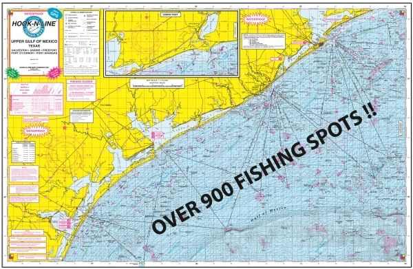 F131 Gulf of Mexico Offs (Hard Copy) Fishing Map (With GPS) Map Of Oil Rigs In The Gulf Mexico on ports in gulf of mexico map, ships in gulf of mexico map, buoys in gulf of mexico map,