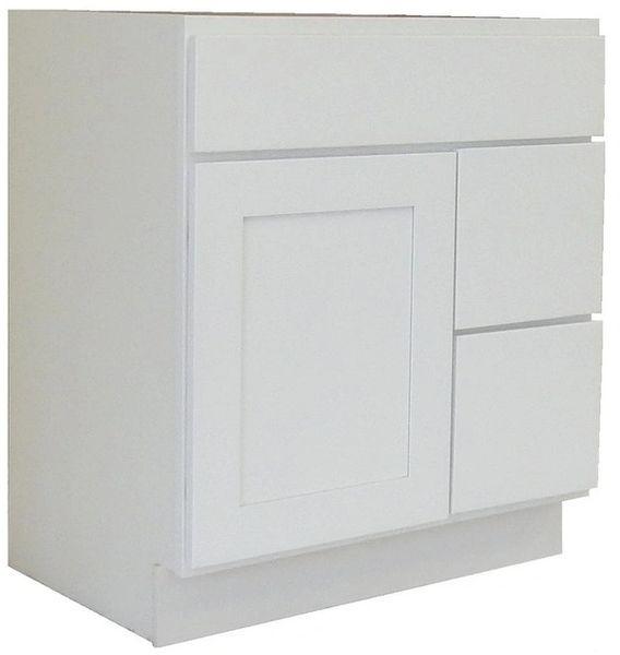 White Shaker Vanity Cabinet WS-3021DR