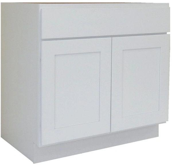 White Shaker Vanity Cabinet WS-3621