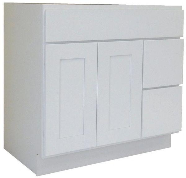 White Shaker Vanity Cabinet WS-4221DR