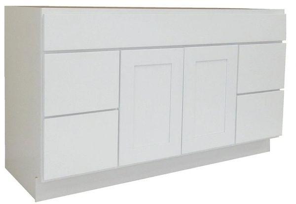 White Shaker Vanity Cabinet WS-4821D