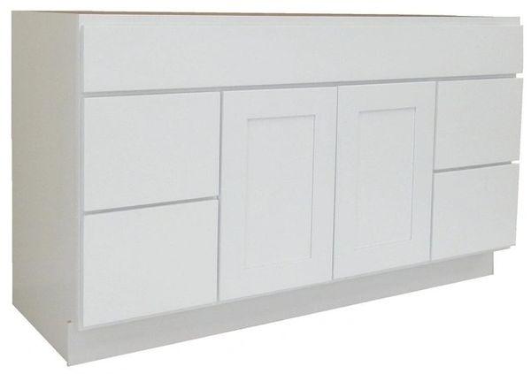 White Shaker Vanity Cabinet WS-6021D