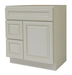 Antique White Vanity Cabinet AW-3021DL