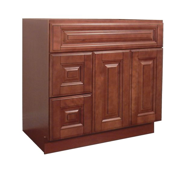 Maple Mocha Vanity Cabinet MM-3621DL