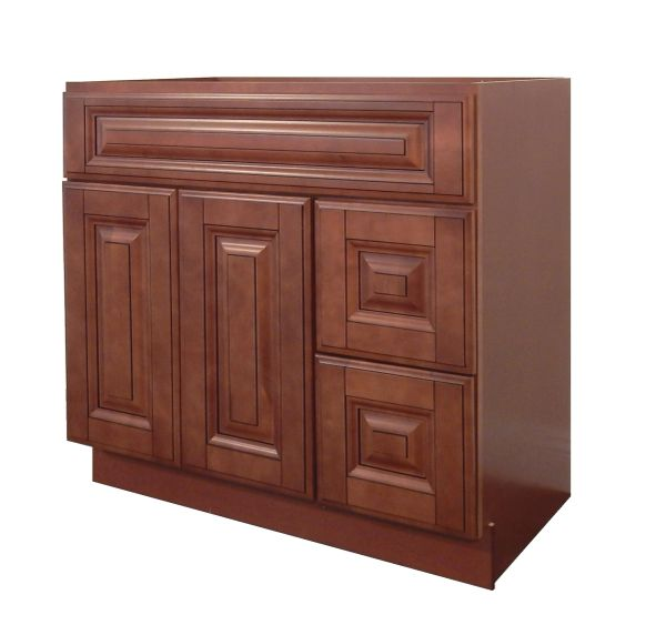 Maple Mocha Vanity Cabinet MM-3621DR
