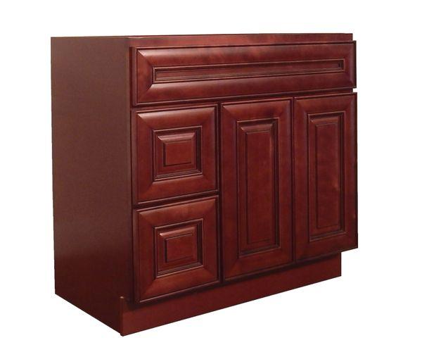 Maple Cherry Vanity Cabinet MC-3621DL
