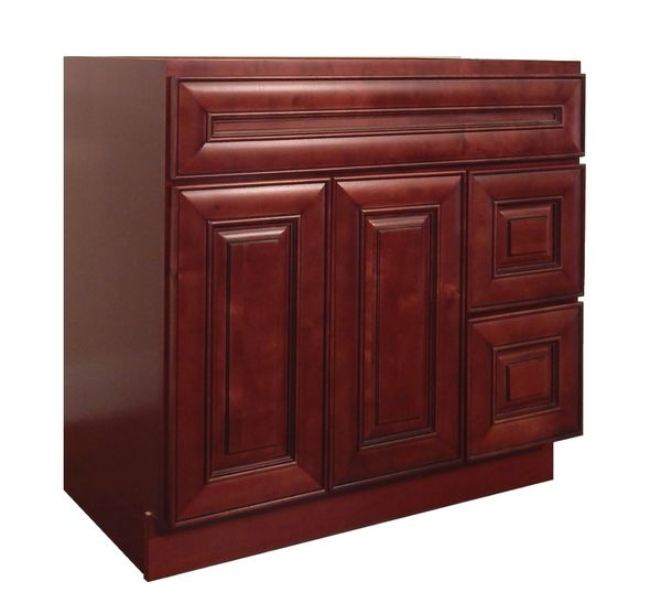 Maple Cherry Vanity Cabinet MC-3621DR