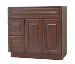 Chestnut Chocolate Vanity Cabinet CC-3621DL