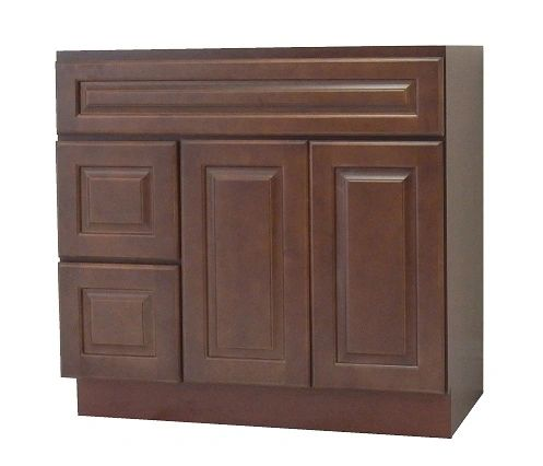 Chestnut Chocolate Vanity Cabinet CC-3621DL