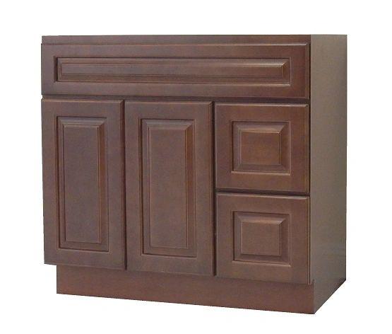 Chestnut Chocolate Vanity Cabinet CC-4221DR