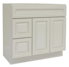 Antique White Vanity Cabinet AW-3621DL