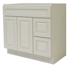 Antique White Vanity Cabinet AW-3621DR