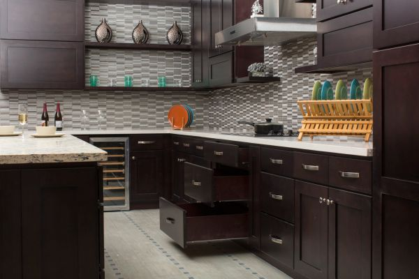 Beech Espresso Kitchen Cabinets (Call or Email for Pricing! )