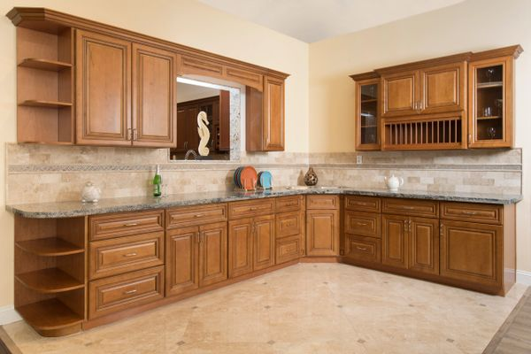 Coffee Glaze Kitchen Cabinets (Call or Email for Pricing! )