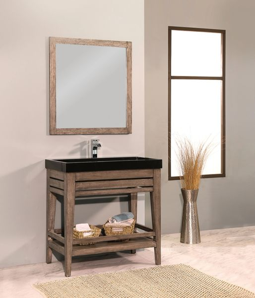 "Palm Springs Vanity Set, 42"", Canyon Ash"