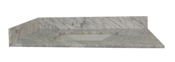 Carrara White Collection Vanity Top, 37""